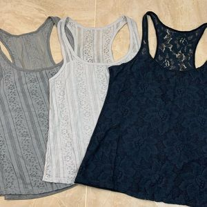 Lot of 3 💥 Hollister Lace Floral Tank Tops